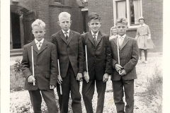Fotoalbum Auke Hoekstra, 053, Sicht op pastory, jongerein net bekind, jier net bekind