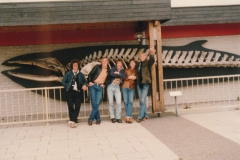 Fotoalbum Piet Boersma, 001, Fûgelwachtreiske, juni 80, Johannes Dijkstra, Johannes Dijkstra, Rene Abbing, Gerard Boersma en Gerard van der Werf