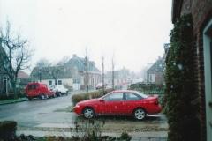 Fotoalbum Piet Boersma, 048, Winter, jier net bekend, op de Doarpsstrjitte
