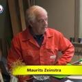 Maurits Zeinstra fan Easterwierrum wennet yn de pastory by de tsjerke en dêr hat er in prachtich plakje