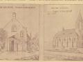 1910_Easterwierrrum_oude_en_nieuwe_RK_kerk