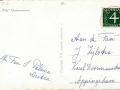 Fotoalbum Douwe Ferwerda, 050, Achterkant kaart, afzender fam. S. Palsma-Westra