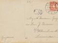 Fotoalbum Douwe Ferwerda, Foto 26, kaart Onafhankelijkheiddagen, 1913 achterkant