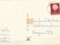 Fotoalbum HKE, 003, Achterkant, adressearre oan W. Hoekstra - Burgum, ôfstjoerders Jelle, Seaske, Jacobus en Willem
