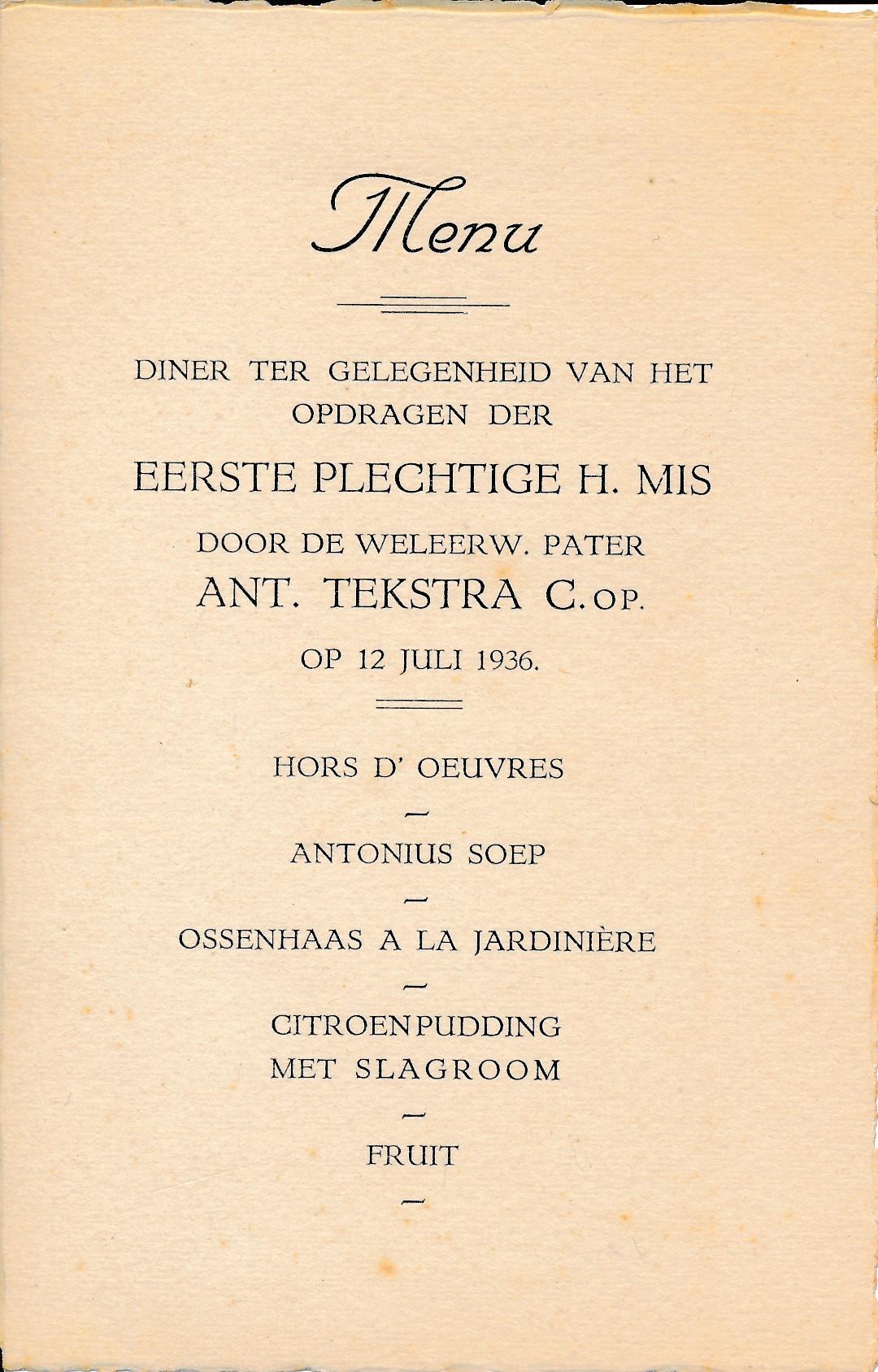 Fotoalbum Andre Kamsma, 027, Eerste plechtige heilige mis, 12-07-1936
