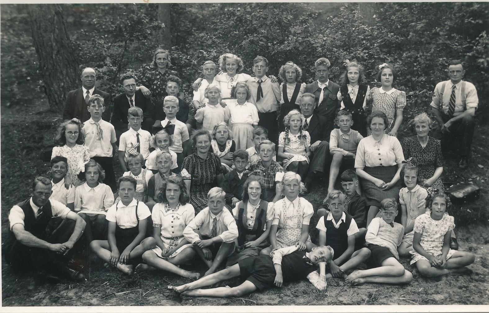 Fotoalbum Andre Kamsma, 029, Skoalfoto, 1941-1942