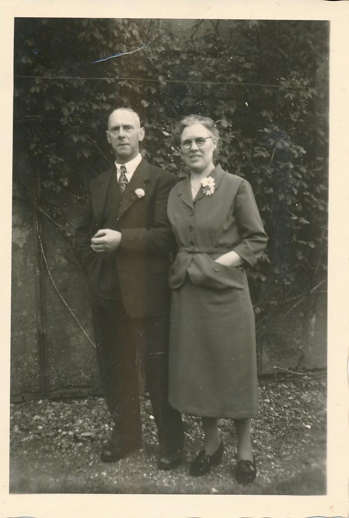 Fotoalbum Andre Kamsma, 064, 25 jierrich houlik Bauke Kamsma en Anne Kamsma-Tekstra, 5-6-1953