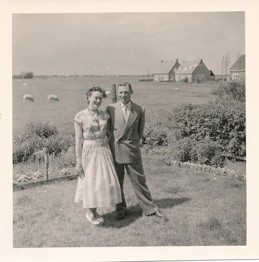Fotoalbum Andre Kamsma, 084, Houliksfeest fan Meinte en Julia op de Dilledyk, july 1957