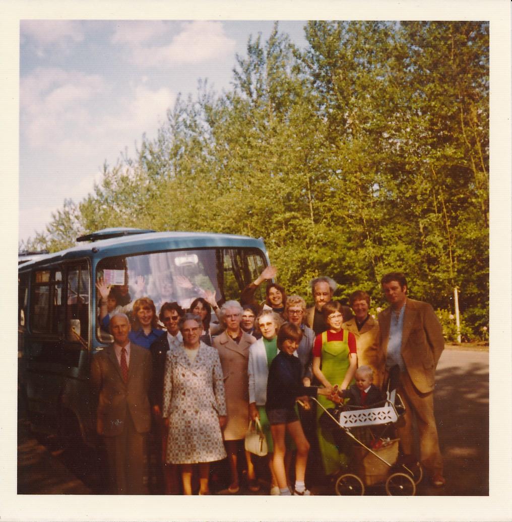 Fotoalbum Andre Kamsma, 097, 1973, Bauke en Anna Kamsma-Tekstra, 45 jier trouwt (2)
