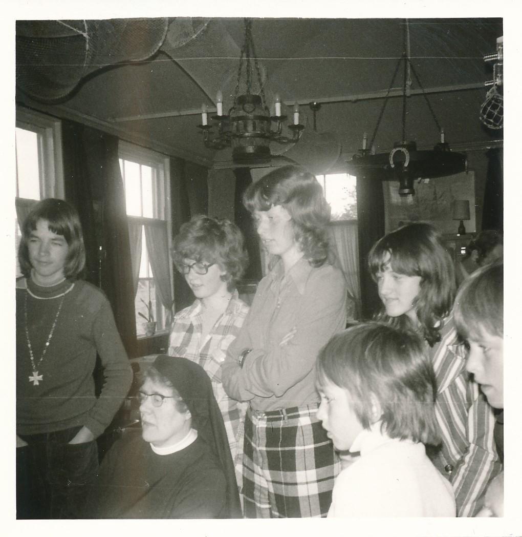 Fotoalbum Andre Kamsma, 098, 1973, Bauke en Anna Kamsma-Tekstra, 45 jier trouwt