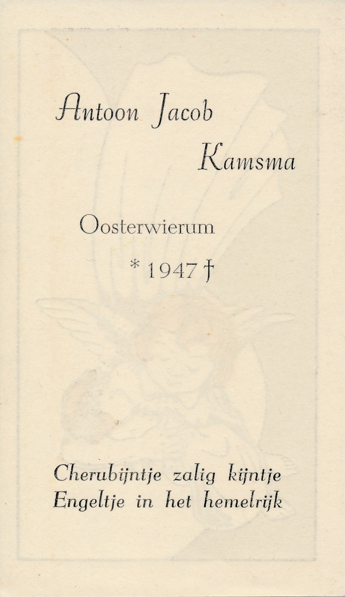 Fotoalbum Andre Kamsma, 101, Bidprintsje Antoon Jacob Kamsma, 1947