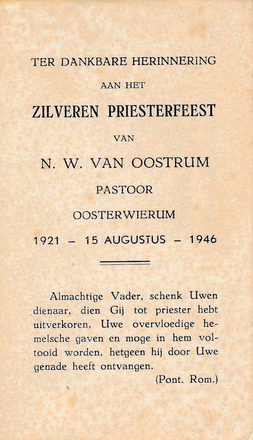 Fotoalbum Andre Kamsma, 148, Zilveren Priesterfeest fan N. W. van Oostrum, Pastoor Oosterwierum, 15-08-1946