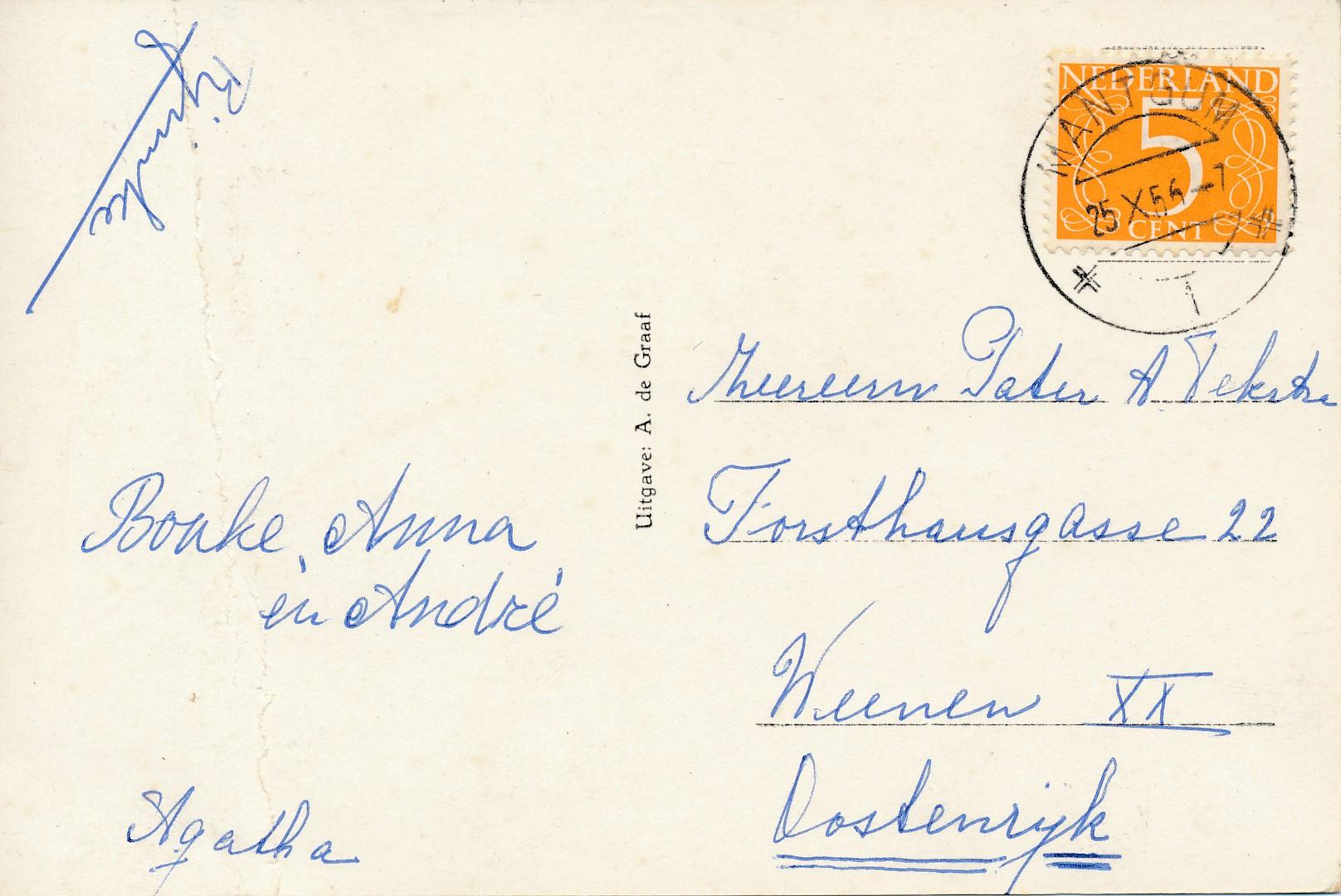 Fotoalbum Andre Kamsma, 198, ansichtkaart Easterwierrum, 1956