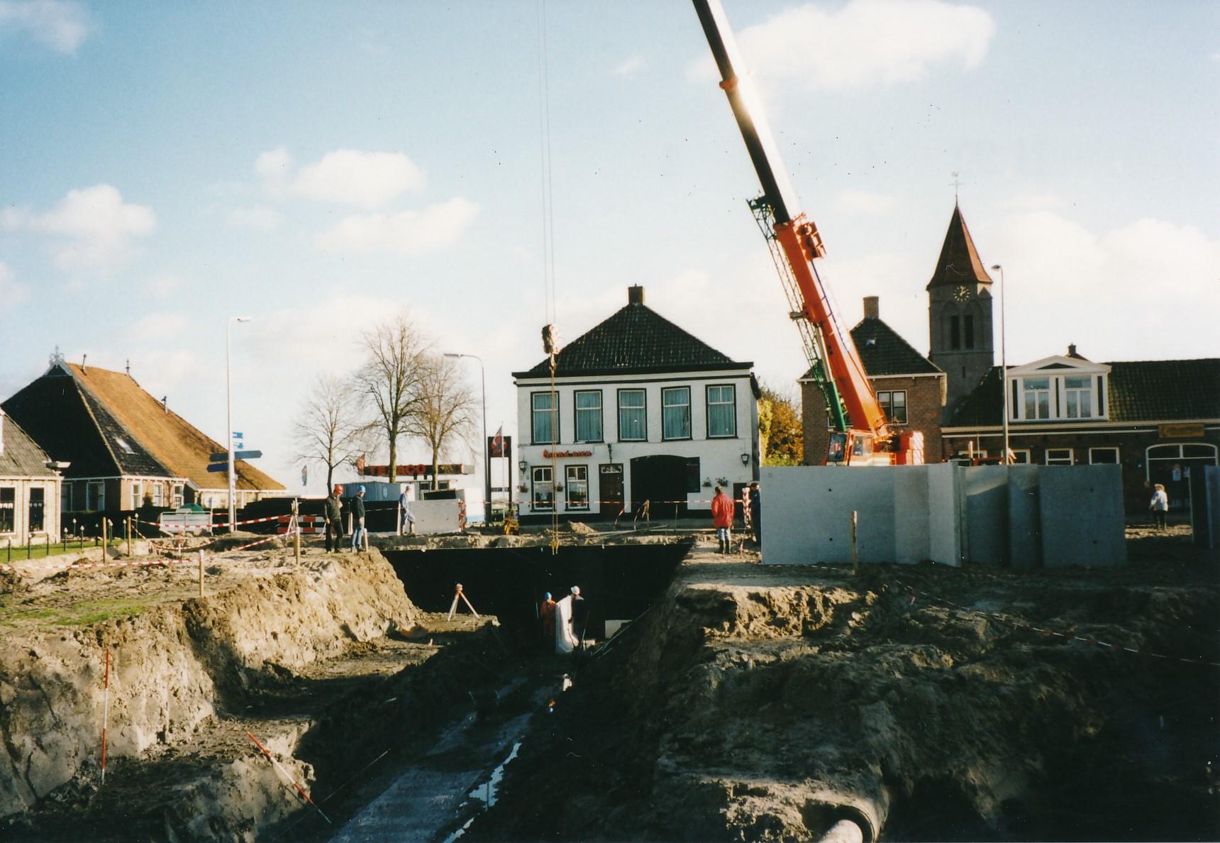 Fotoalbum Anneke Miedema, 054, opbou Reade Plein, septimber 1999