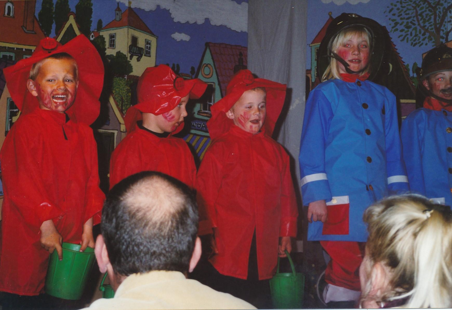 Fotoalbum Anneke Miedema, 109, Musical 2005, Floris Miedema, Pascal van Dijk, Hilbert Bootsma en Charlotte Kamphorst