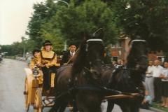 Fotoalbum Anneke Miedema, 028, Ringstekke yn e buorren mei Jorit van der Wal, Merke 1996