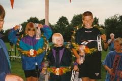Fotoalbum Anneke Miedema, 032, Merkekeatsen Jitske Miedema, Cristiaan Visser en Ylda Brandenburgh, Merke 1996