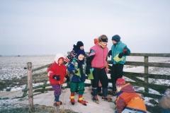 Fotoalbum Anneke Miedema, 034, Elfstedentocht foar de bern, u.o. Sape Timo Abbing, Yldau Brandenburg, Ysbrand Galama, Anke Jongste, Rutmer Faber, dei foar de echte elfsteden 1997