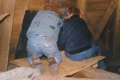 Fotoalbum Jan en Marja Schotanus, 035, Pleatsing en restauraasje klokken âld Toer