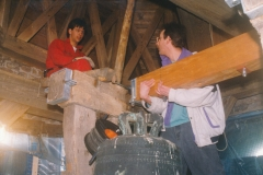 Fotoalbum Jan en Marja Schotanus, 044, Pleatsing en restauraasje klokken âld Toer
