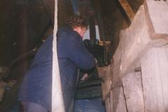 Fotoalbum Jan en Marja Schotanus, 045, Pleatsing en restauraasje klokken âld Toer