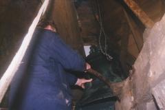 Fotoalbum Jan en Marja Schotanus, 047, Pleatsing en restauraasje klokken âld Toer