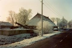 Fotoalbum Meint Miedema, Winterfoto pleats Hegedyk 1, 04, fanôf Easterwierrum richting Boazum, rûnom 1985