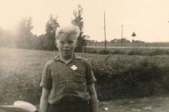 Fotoalbum Sytse Alberda, 111, Sytse hat medalje wûn mei keatsen, 1958