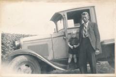 Fotoalbum Sytse Alberda, 126, Sytse en syn heit, foar 1950
