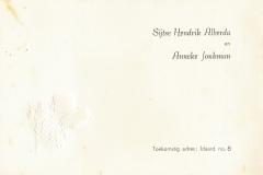 Fotoalbum Sytse Alberda, 149, Troudei 21-11-1969 Sytse en Anneke