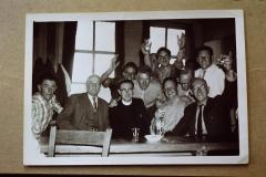 Fotoalbum-Sytse-Alberda-154, 2e rij Bouke Hoogma, Jaap Roorda, Rommert Hoogma. Boppeste rige Sybren Altenburg, Wiebe Altenburg en Jan Pool