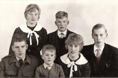 Fotoalbum Jan en Elske, 048, 49b Yeb, Cobie,Jappie, Broer, Wietske en Douwe Boersma