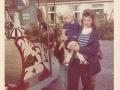 Fotoalbum Douwe Boersma, Griet Altenburg met Ronnie Boersma en Marijke, kermis 72