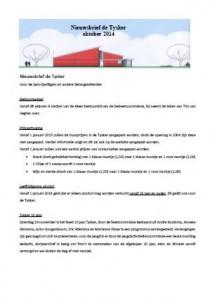 Nijsbrief de Tysker - Oktober 2014