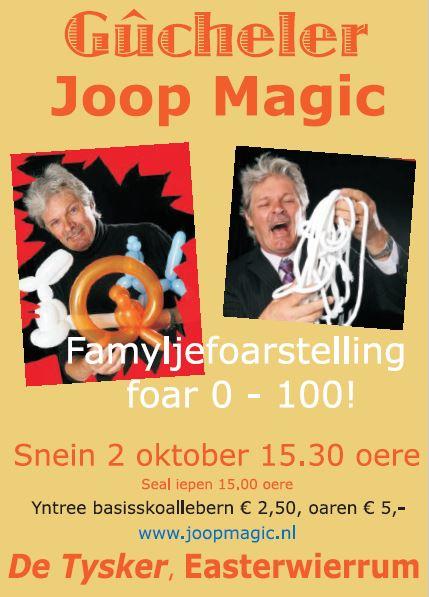 Flyer Joop Magic, 2 oktober 2016